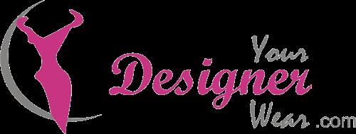 Azure Blue Designer Embroidered Saree
